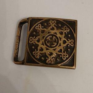 Vintage Mandala 1974 Solid Brass Belt buckle